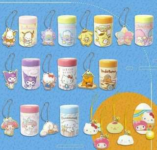 Sanrio candy container with keychain