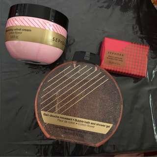Brand New Bath Gel, soap and moisturising cream