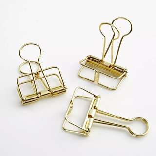 [Ready Stock]  Gold Metal Paper Clip