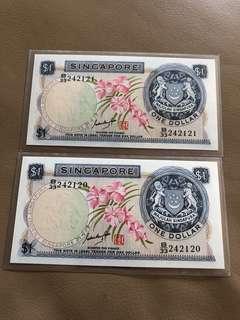 Orchid $1 GKS Signature, 2 Runs
