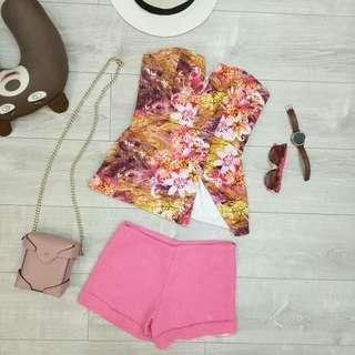 LW - Floral pink tube top