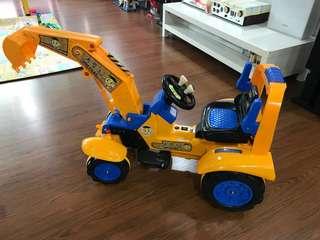 Kid Electric excavator car