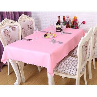Polyester Fabric Tablecloth – Pink