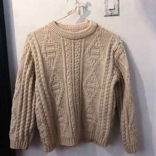 Chunky Knit Crew Neck Sweater (M)
