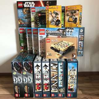 CLEARANCE LEGO Collection 10197 10211 10214 10232 10242 10243 10244 10246 10251 21108 21303 21305 75105 76023