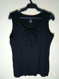 Ruffled sando blouse top