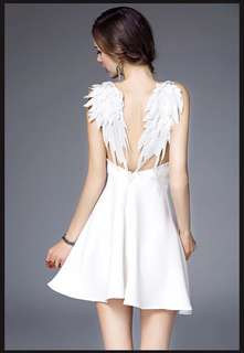 White angel wing dress