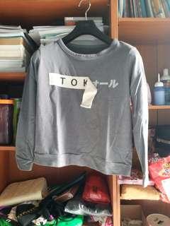 [NEW!] Tokyo Abu Grey Sweater Lengan Panjang