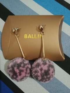 Earing ball pink