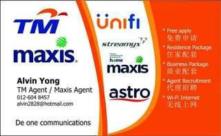Telekom unifi & maxis home fibre