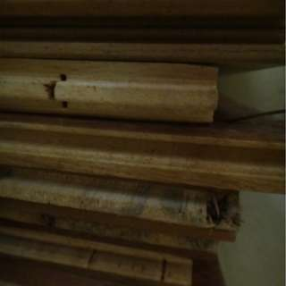 About 40 pieces of MBF board wood samples