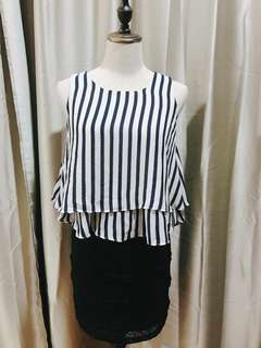 NEW! Blue & White Stripe Top