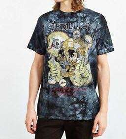 Metalica Pushhead Tie Dye T-shirt