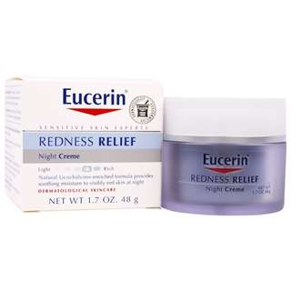 Eucerin, Redness Relief, Dermatological Skincare, Night Creme, 1.7 oz (48 g)