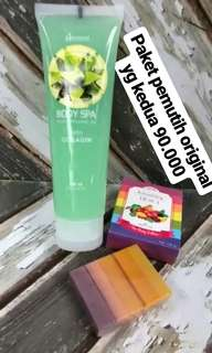 [PROMO] Body Spa Hanasui free Fuitamin Soap isi 10