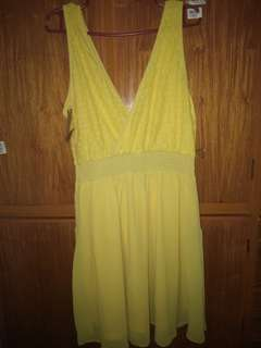 Pre loved yellow dress