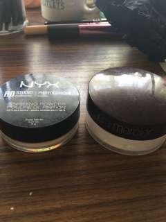 🌳Laura Mercier Invisible Loose Powder + NYX HD Studio Photogenic