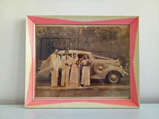 Vintage Old Frame With old photo frame size 33x27cm perfect condition