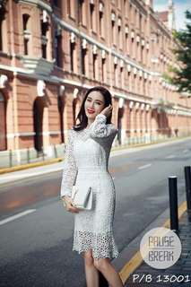 Korean 2piece Lace Dress