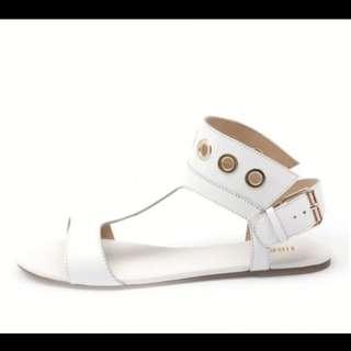 "Siren ""Soul"" White Sandals / Flat Shoes .. Size 6"