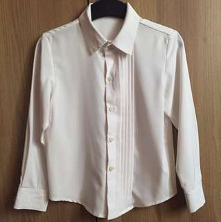 White long sleeves used once for 5 to 6 years old