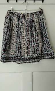 Aztec pleated skirt
