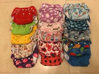 Cloth diapers - 16 pieces