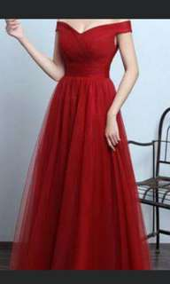 Wedding dinner /evening Tulle gown