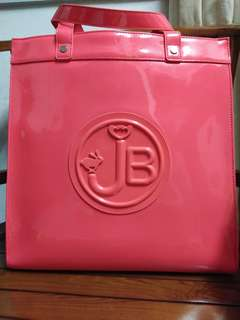 **Unopened sling plastic** Authentic Jelly Bunny Sling/Tote office bag(peach pink)(waterproof)