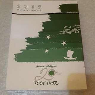 Starbucks planner 2018 Green (sealed)