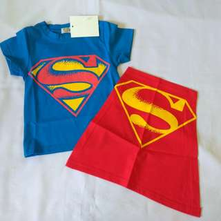 BN Superman T Shirt with Cape 1-5Y