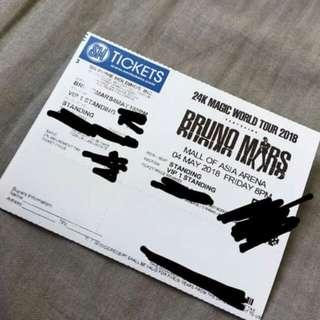 Bruno Mars VIP Concert Ticket