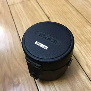 Leather Container for Konica 28mm f3.5