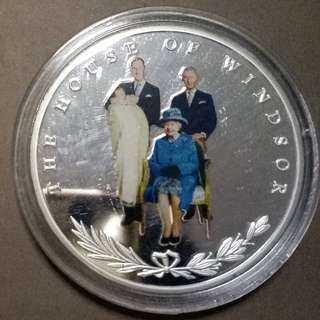 UK 4 Generations of The British Royal Family Commemorative Coins 5 Pound