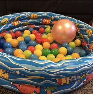Inflatable Swimming Pool with Balls