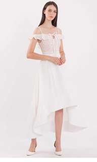 Doublewoot Dhariele dress in white