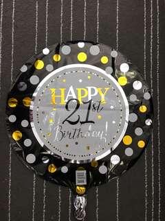 "18"" Happy 21st Birthday Foil Balloon"