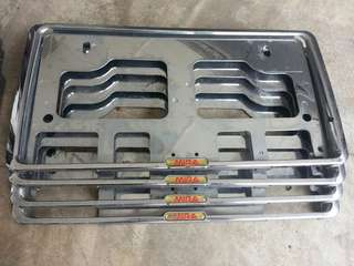 Chrome plate frame