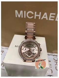 Michael Kors Watch •bling bling 加陶瓷粉錶帶•