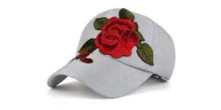 Floral Embroidery Baseball Hat