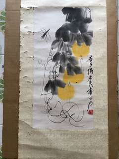 画家齐白石 69x43cm Chinese painting