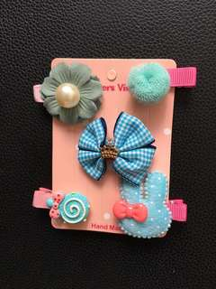 (Clearance) kids hair Clips set(5pcs)