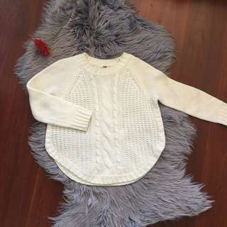Rumor White Knit Thick Jumper Size SM