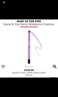❤️SALE❤️ makeup forever eye pencil I pastel purple