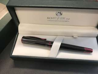 Monteverde USA 鋼筆 Gun Metal With Red Trim-Med