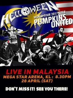 Helloween live in KL Ticket