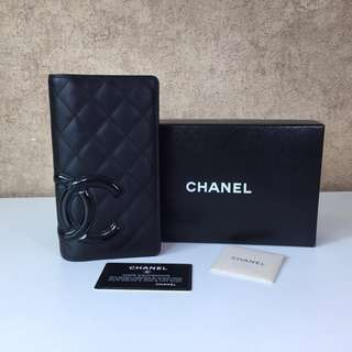 CHANEL CAMBON LINE LONG WALLET LADY'S