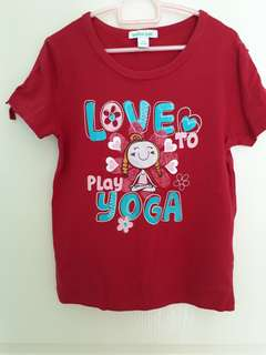 (size 120) Girls' Bossini Red tee for girls