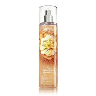 Bath & Body Works Warm Vanilla Sugar Diamond Shimmer Mist