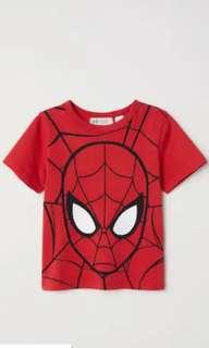 H&m boys tops Spiderman